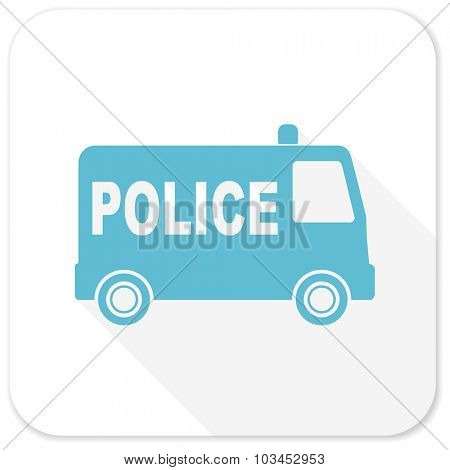 police blue flat icon