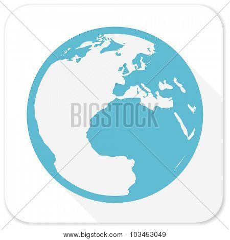 earth blue flat icon