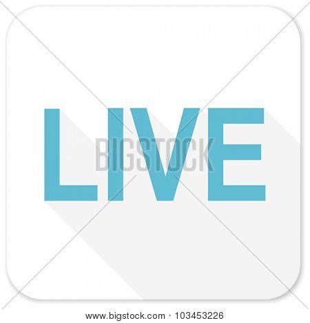 live blue flat icon