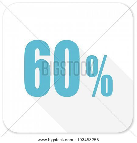 60 percent blue flat icon