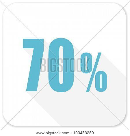 70 percent blue flat icon