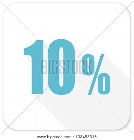 10 percent blue flat icon