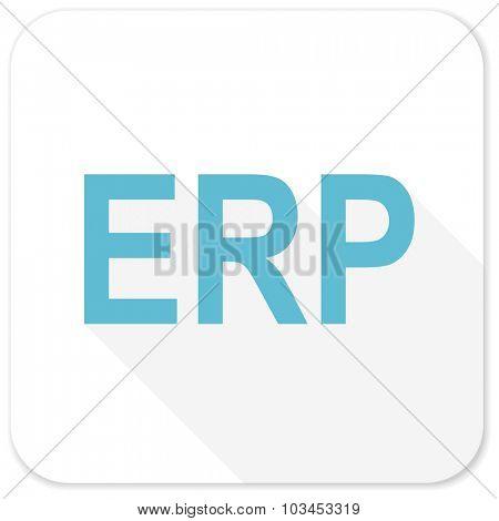 erp blue flat icon