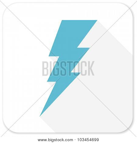 bolt blue flat icon