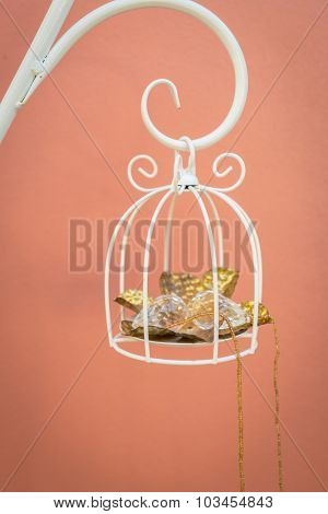 Diamond in white bird cage