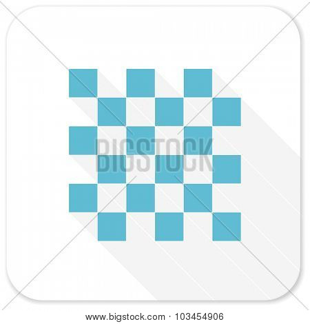 chess blue flat icon