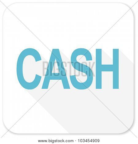 cash blue flat icon