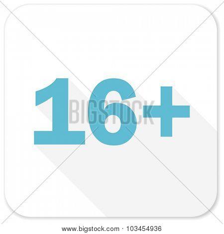 adults blue flat icon