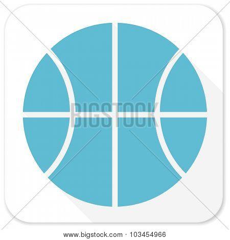 ball blue flat icon
