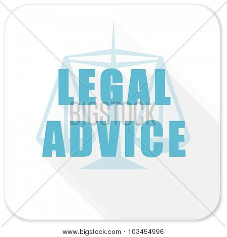 legal advice blue flat icon