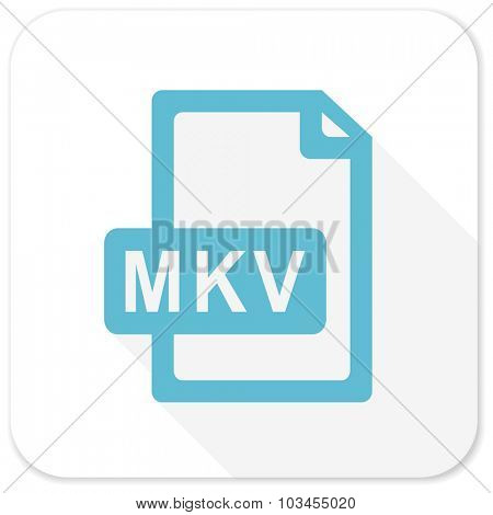 mkv file blue flat icon
