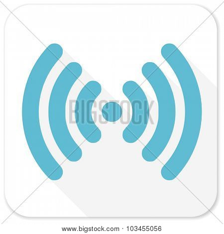 wifi blue flat icon