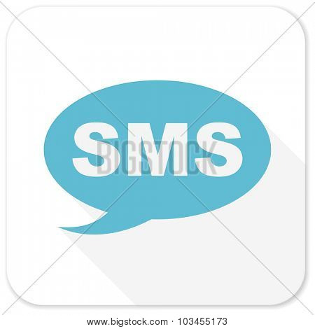 sms blue flat icon