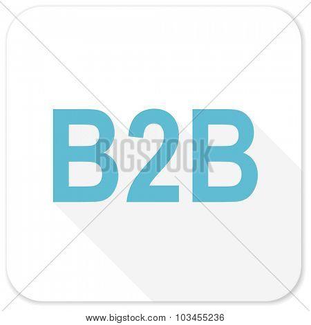 b2b blue flat icon