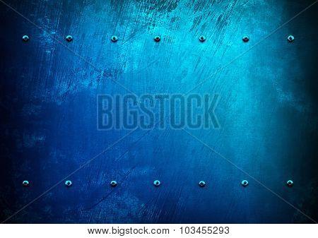 blue metal paint background