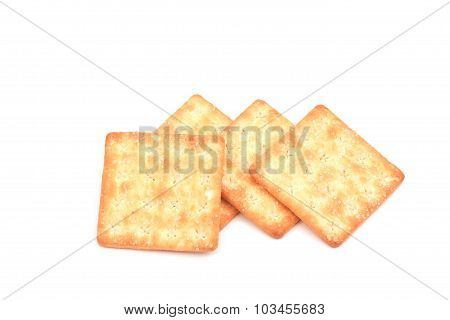 Crackers isolated on white background.