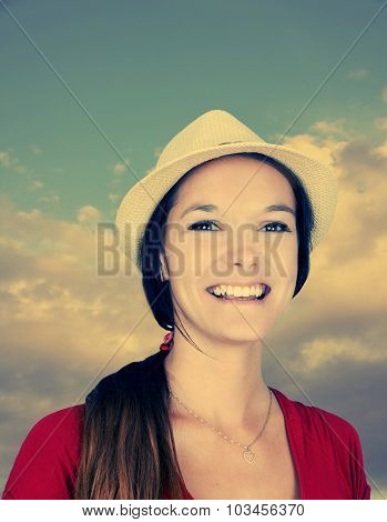Young Woman With Hat-toned