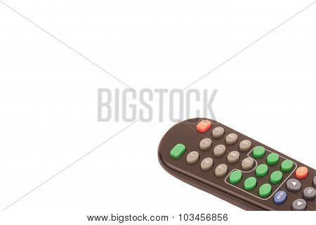 Tv Remote Control Isolated On White.
