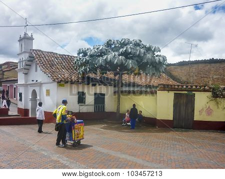 Small Chapel At Historic Center Of Bogota Colombia