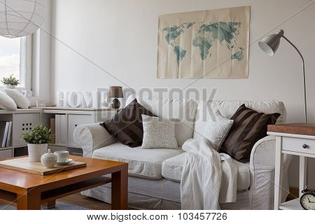 Comfortable White Double Sofa