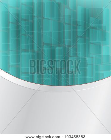 Abstract light vector background with blue blocks