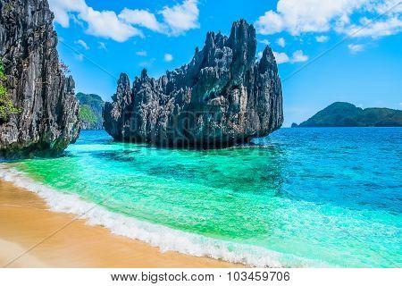 Tropical Beach And Mountain Islands