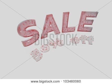 Inscription Sale 50 Percent Off