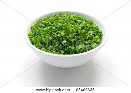 Dressing herbs in the bowl