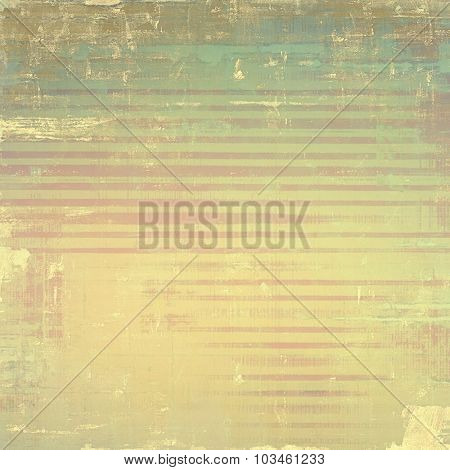 Retro background with old grunge texture. With different color patterns: yellow (beige); brown; green; cyan