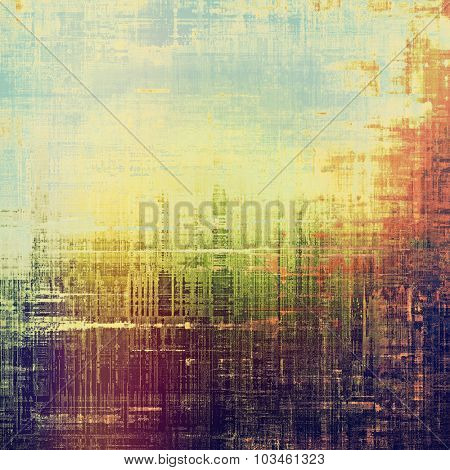 Abstract distressed grunge background. With different color patterns: brown; purple (violet); blue; green