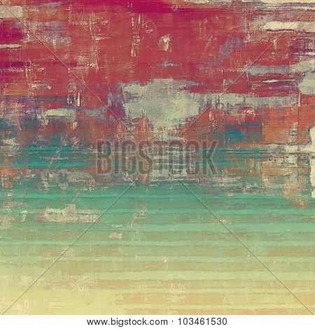 Colorful designed grunge background. With different color patterns: yellow (beige); brown; green; red (orange)
