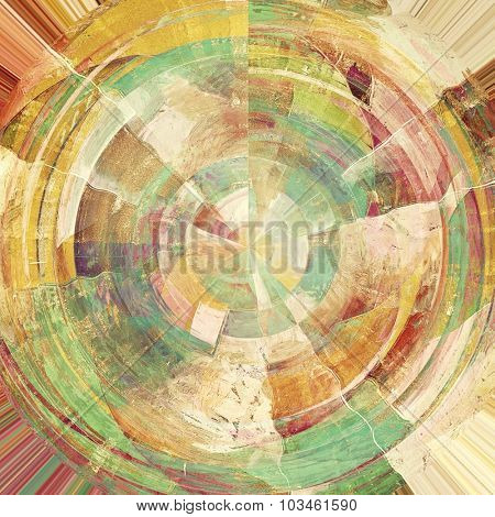 Grunge aging texture, art background. With different color patterns: yellow (beige); brown; purple (violet); green; cyan