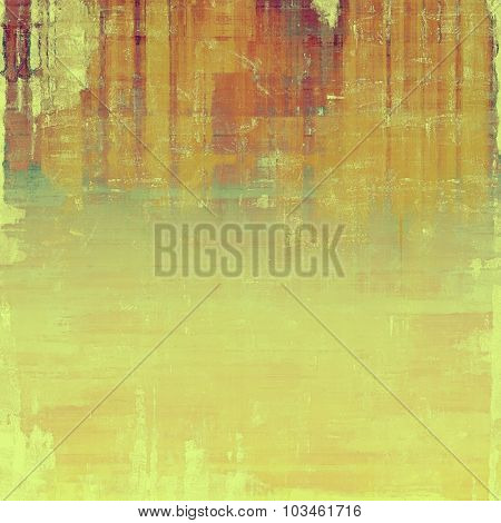 Old background with delicate abstract texture. With different color patterns: yellow (beige); brown; cyan