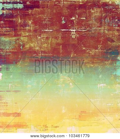 Designed grunge texture or background. With different color patterns: yellow (beige); brown; blue; red (orange)
