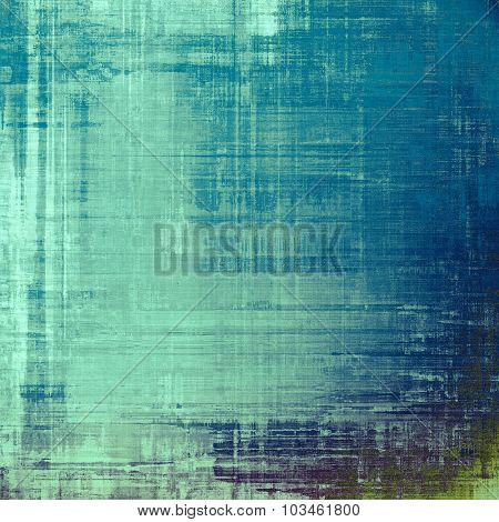 Old school textured background. With different color patterns: blue; gray; green; cyan