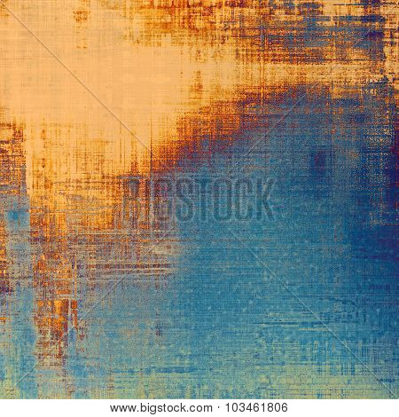 Abstract retro background or old-fashioned texture. With different color patterns: yellow (beige); brown; blue; cyan