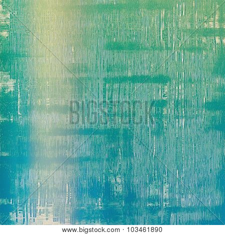Old background with delicate abstract texture. With different color patterns: yellow (beige); blue; green; cyan