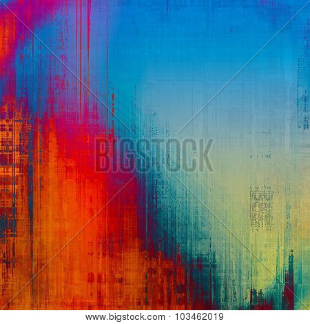 Grunge aging texture, art background. With different color patterns: yellow (beige); purple (violet); blue; red (orange)