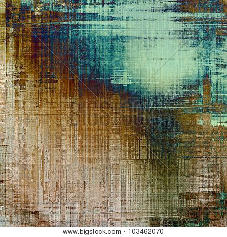Old abstract texture with grunge stains. With different color patterns: yellow (beige); brown; blue; green