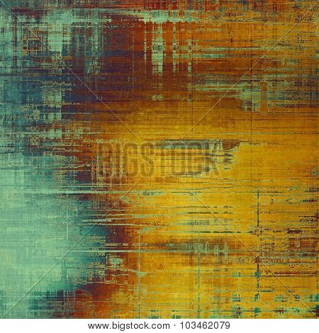 Old school textured background. With different color patterns: yellow (beige); brown; purple (violet); blue