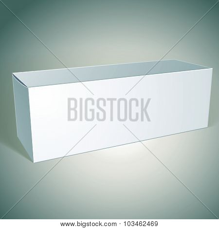 Vector blank box illustration, template for your package design, put your image over the pack