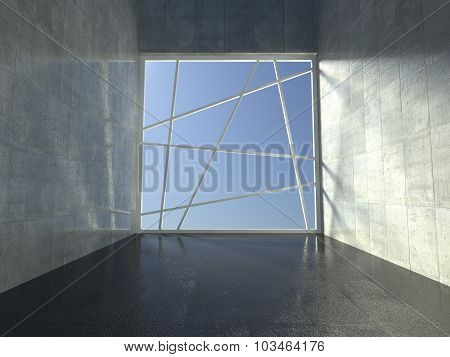 3D Modern Indoor, Empty Corridor