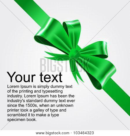 shiny green satin ribbon