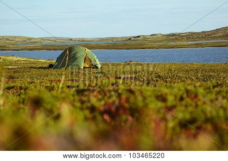 The tent in the Arctic