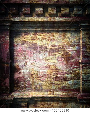 3D Old Wall, Antique Architecture Background