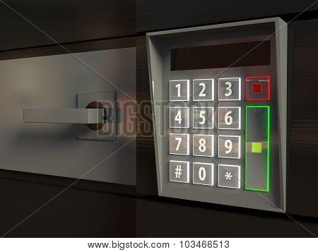 3D Open Door, Electronic Lock Or Intercom