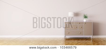 Interior Of A Room With Chest Of Drawers