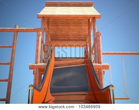 Playground And Slide Without Children