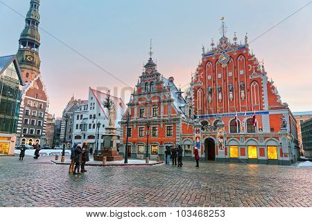 Latvian Attractions In The Center Of Old Riga