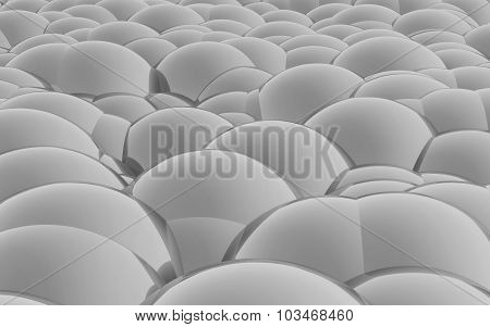3D Spheres Crossover Black White